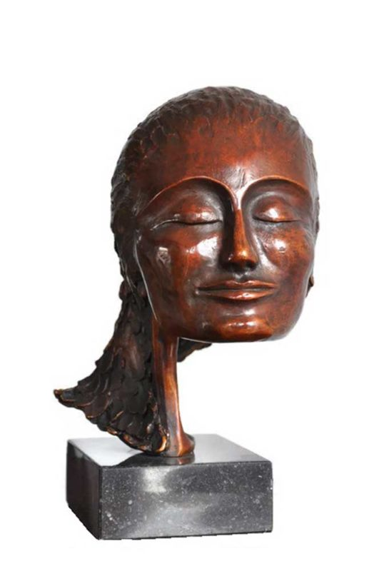 portrait artists, female bronze portrait, contemporary bronze,