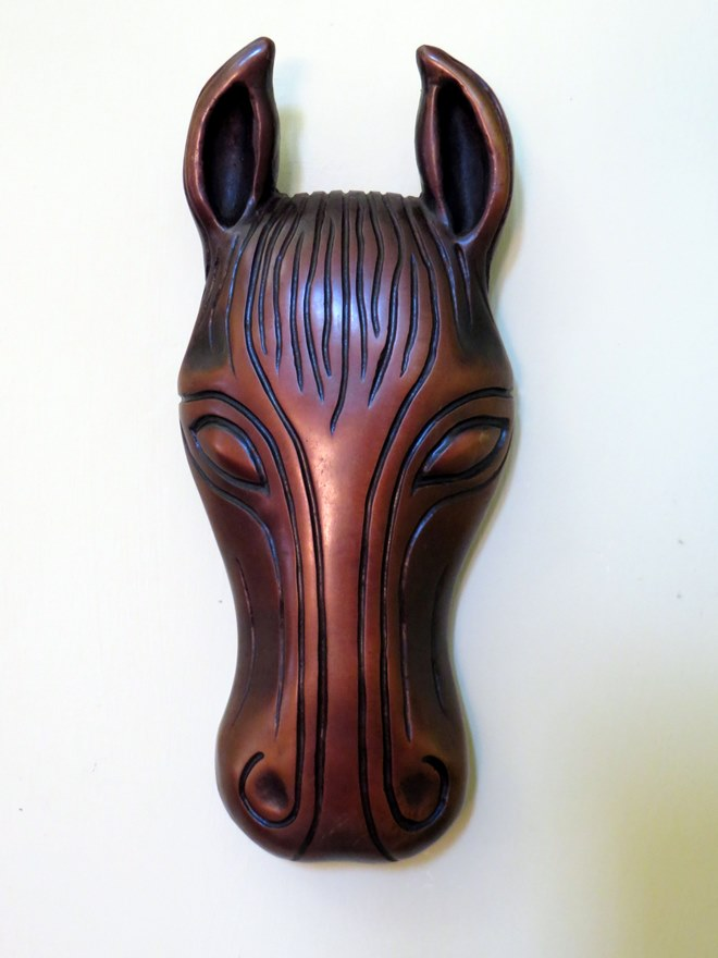 bronze sculpture, contemporary bronze sculpture, horse head, equine art, horse art, wall art