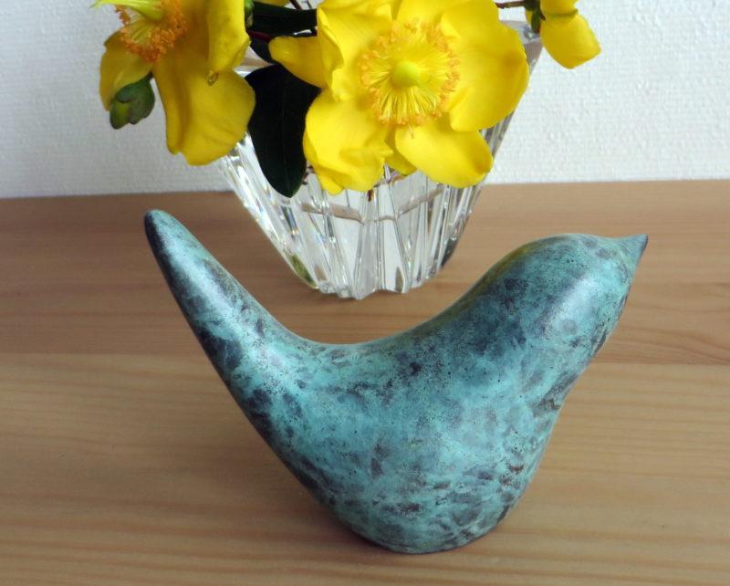 wren turning, wren, garden bird, little luxury, bronze gift